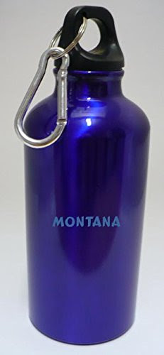 Personalizada Botella cantimplora con mosquetón con Montana (nombre de pila/apellido/apodo)