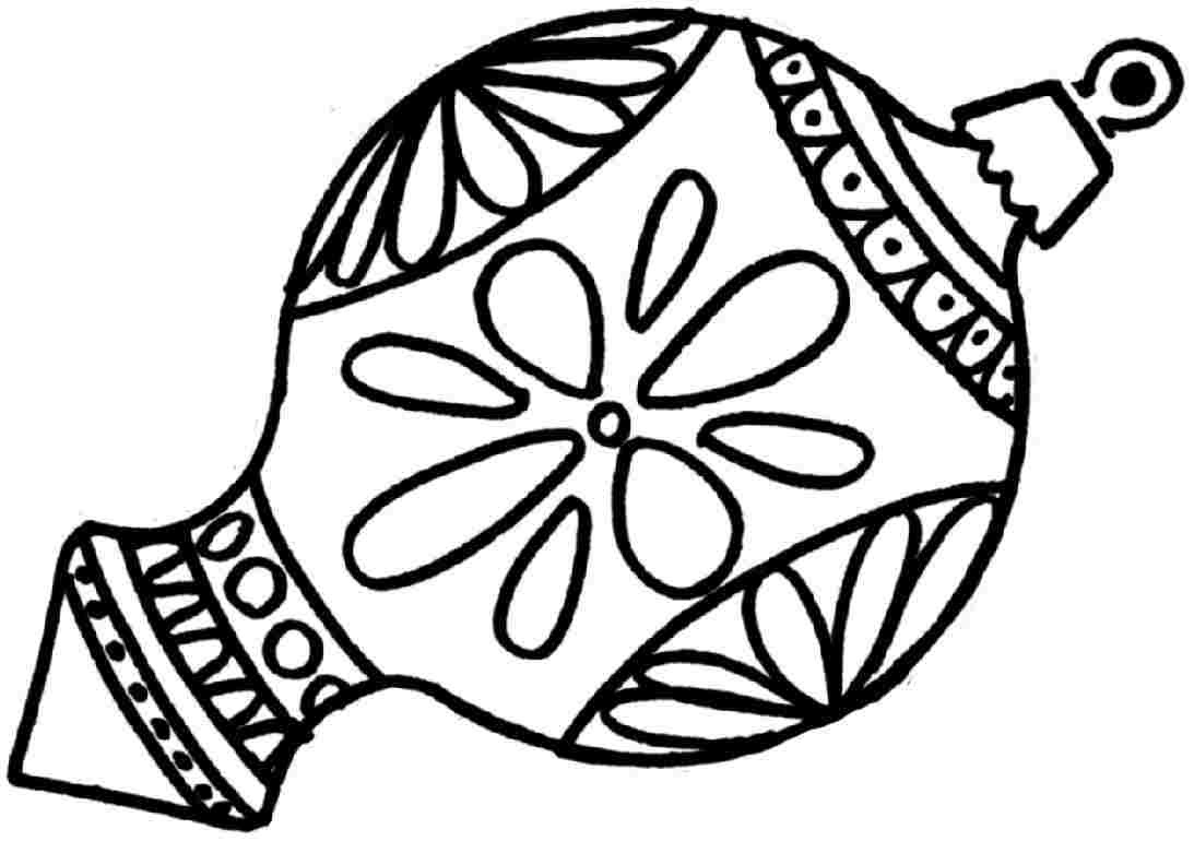 Christmas Ornament Coloring Pages | Free download on ...