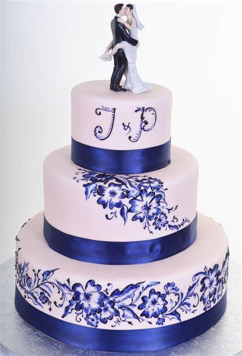 Kissing Couple Bride & Groom Cake Topper   Royal blue