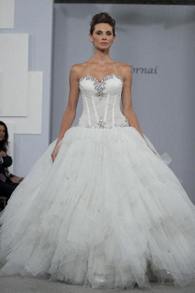 Sexy Ball Gown Beaded Pnina Tornai Bling Bling Wedding