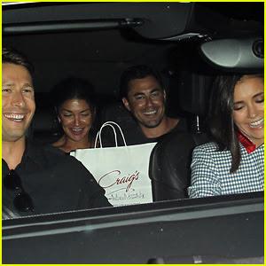 Nina Dobrev & Jessica Szohr Double Date With Their Boyfriends