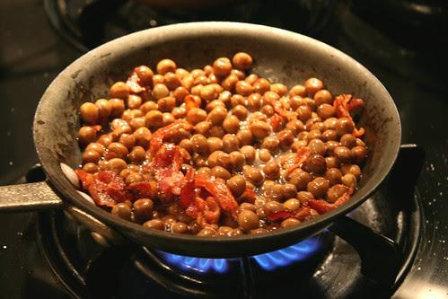 peas in a pan