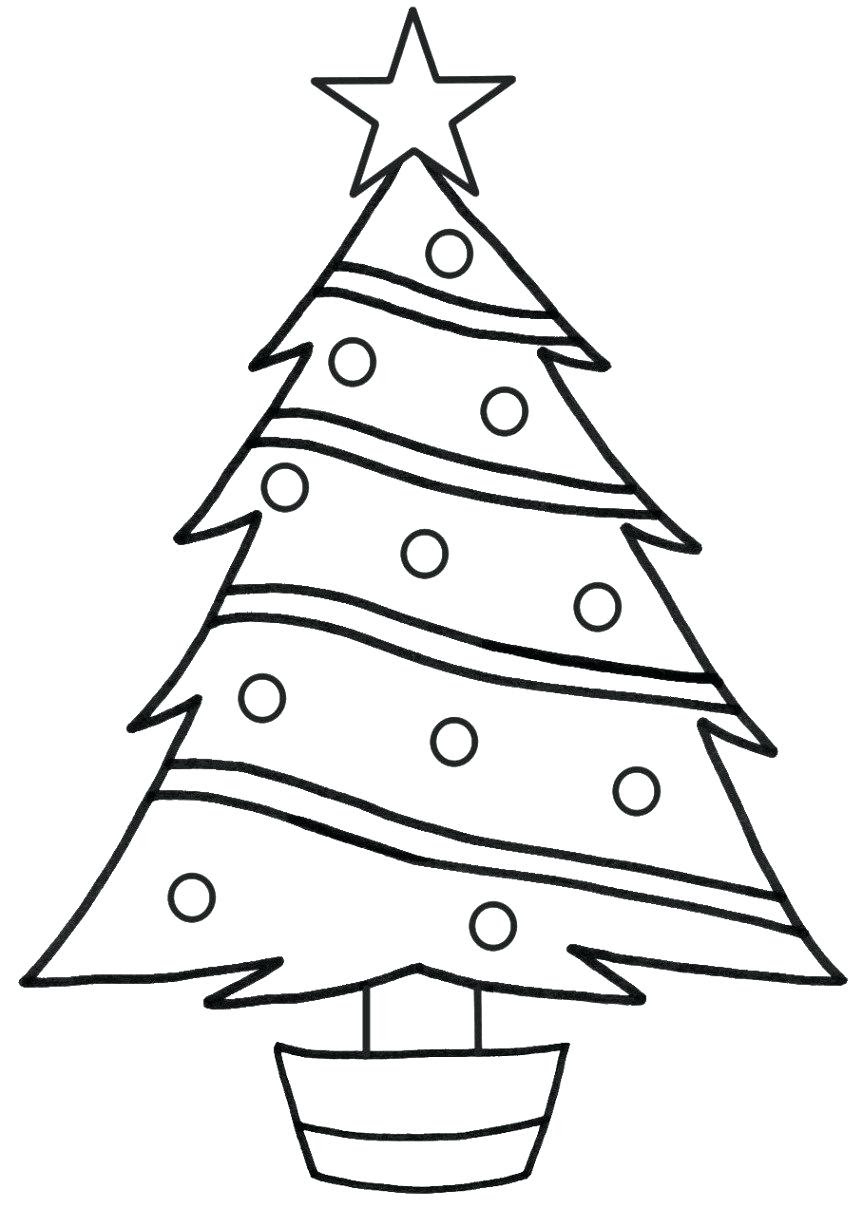 Christmas Tree Coloring Page | Free download on ClipArtMag