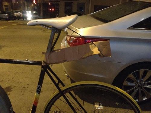 Fender bike hack!