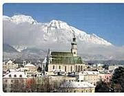 La cittadina di Hall, in Tirolo