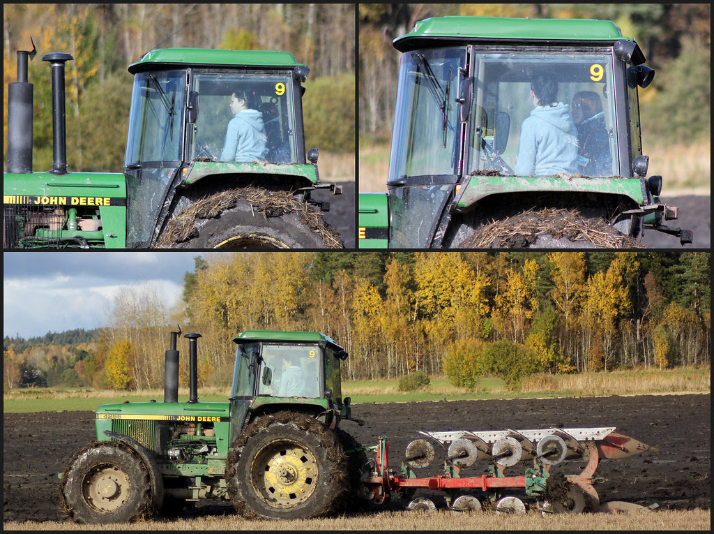 tractor triptych