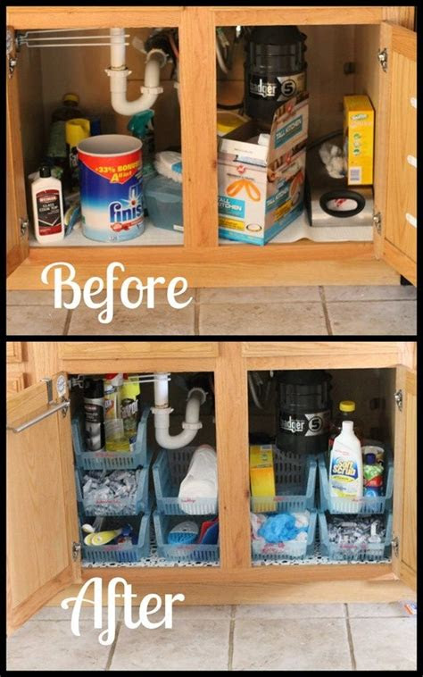 sink cabinet organization casa pinterest