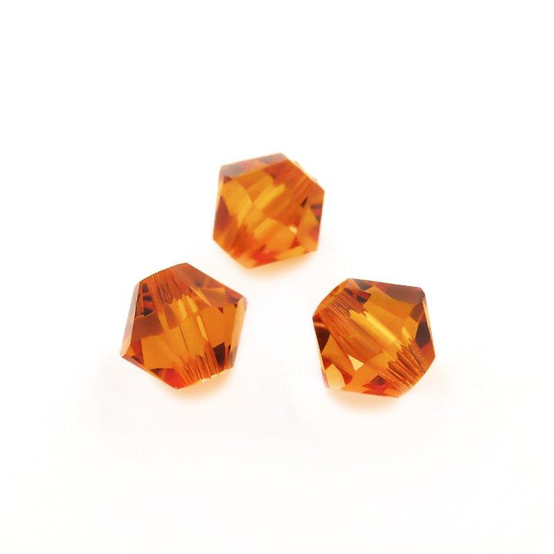 27753011333259 Swarovski Bead - 4 mm Faceted Bicone (5301) - Tangerine (36)