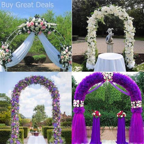 white metal garden arch archway wedding ceremony flower
