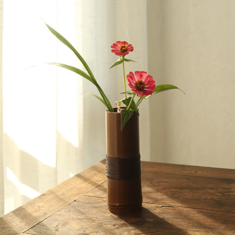 Japanese Bamboo Flower Vase For Home Decoration Handmade Traditional Accessories Home Garden Home Garden Home Decor