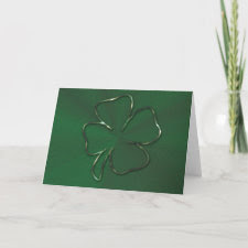 The Shamrock Card card