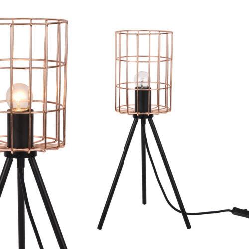 Beleuchtung ® Tischleuchte Schwarz Tischlampe Industrie ...