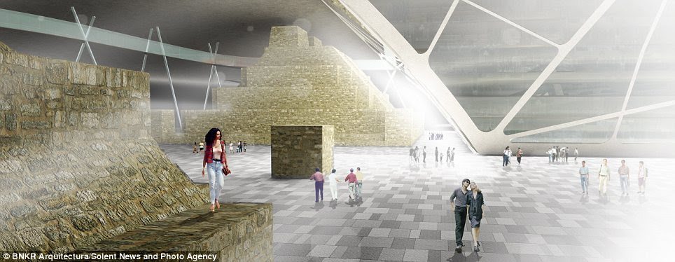 Heritage: The earth-scraper is expected to contain a museum and cultural centre which will explore the history of Mexico and its pyramids