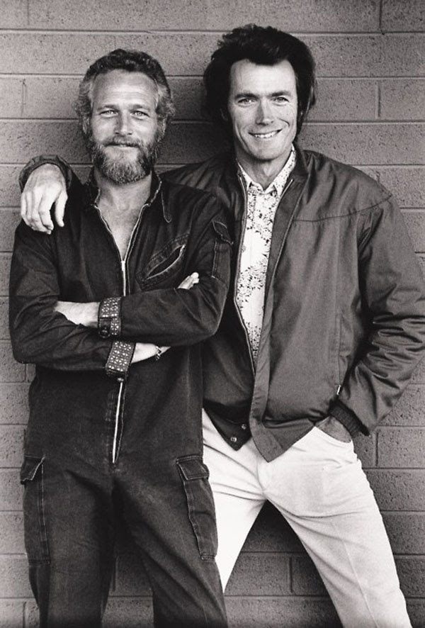Paul Newman and Clint Eastwood