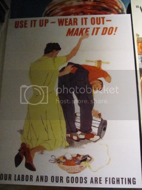 wwii mending poster