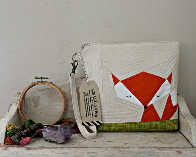Fox Pouch for Embroidery