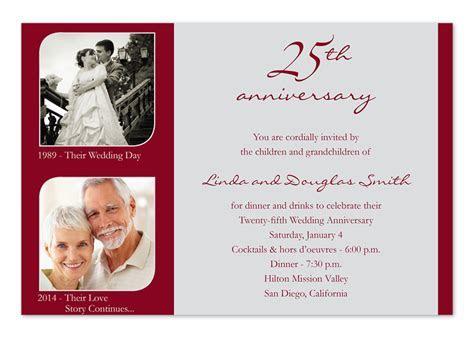 Memorable 25th   Anniversary Invitations by Invitation