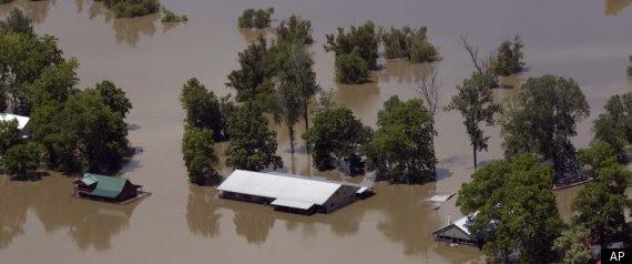 Mississippi River Flooding Levee Damage 2011