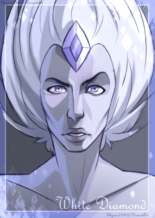 Really Quick Portrait I did of white diamond, I want to do something more detailed but I am pressed for time at the moment…please enjoy!