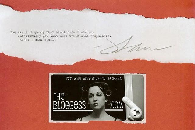 Bloggess writes