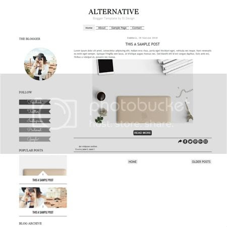 Alternative Blogger Template by El Design