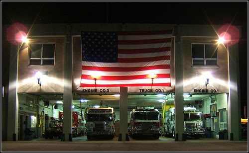 Fire Department Shows Memorial Day Colors by Tony the Misfit