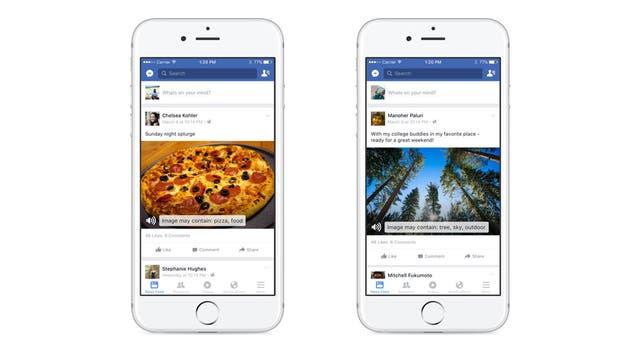 Por el momento, la descripción automática de imágenes está disponible sólo en inglés y para la aplicación de Facebook para teléfonos iPhone
