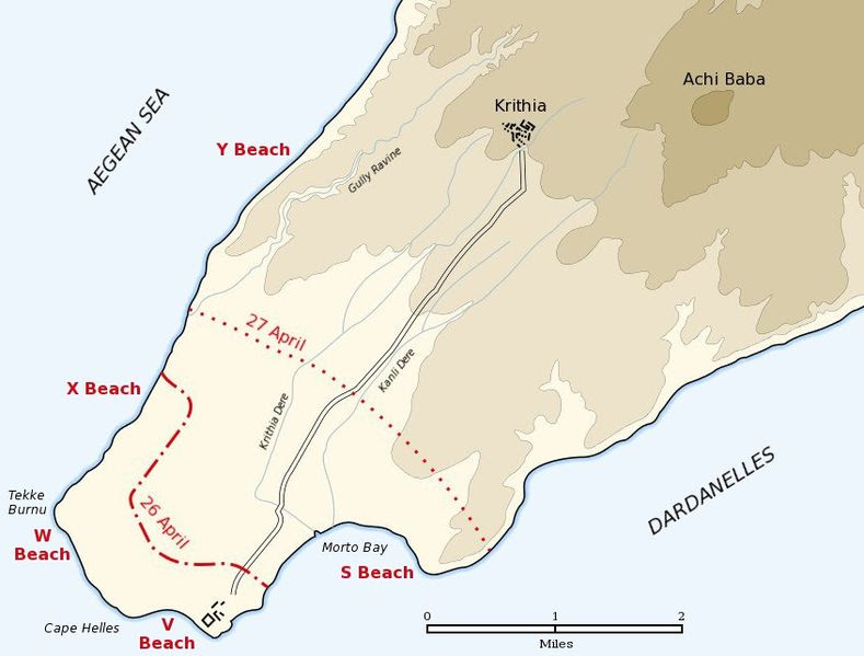 Archivo: Cabo Helles aterrizaje map.jpg