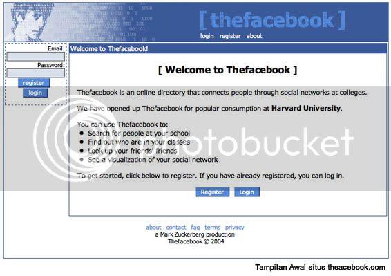 Photobucket, situs awal facebook, tampilan situs awal facebook, sejarah facebook, sejarah fb, asal usul facebook