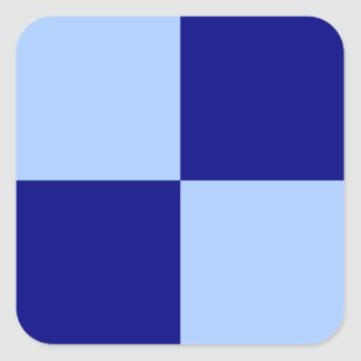 Light Blue and Dark Blue Rectangles Square Stickers