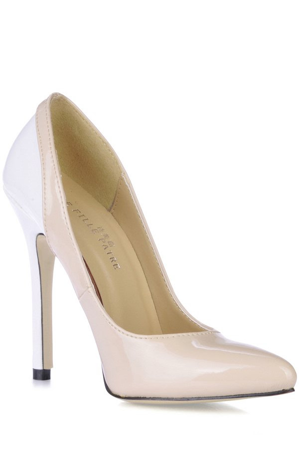 Patent Leather Color Block Pumps