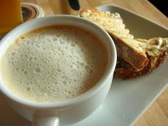 tomato cappuccino, mini grilled cheese sandwich