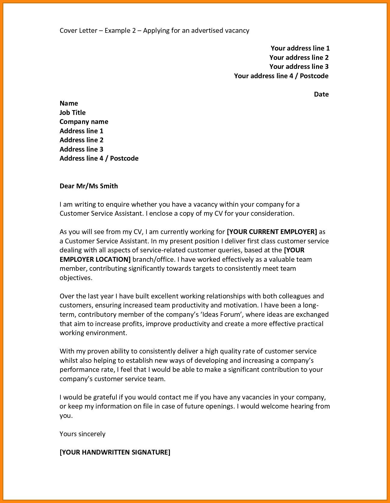 30 Cover Letter For Job Cover Letter For Job Example