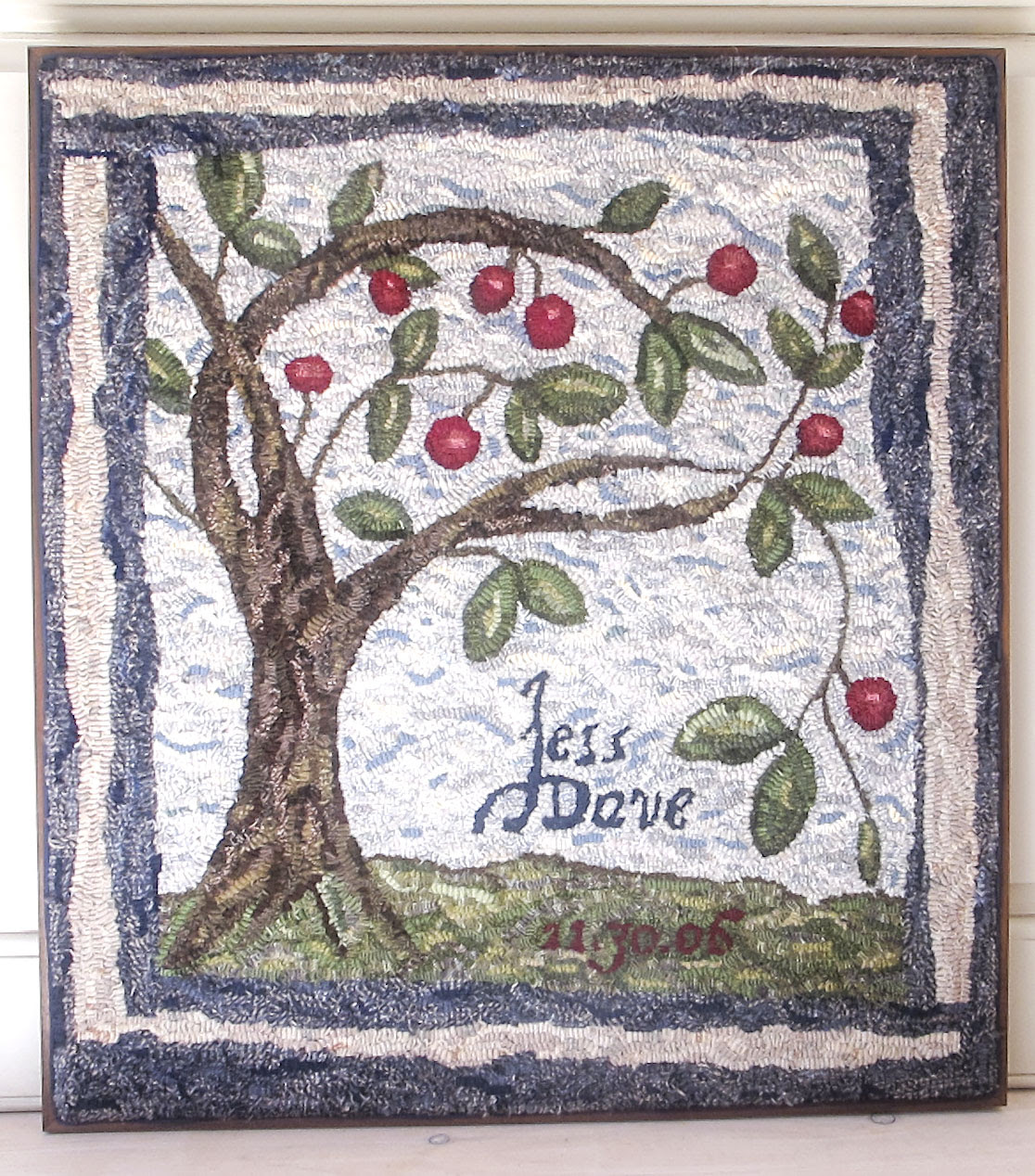 Tree Of Life Primitive Rug Hooking Pattern Jess Wrobel Textiles