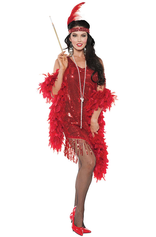 1920's swingin flapper women adult costume red  ebay