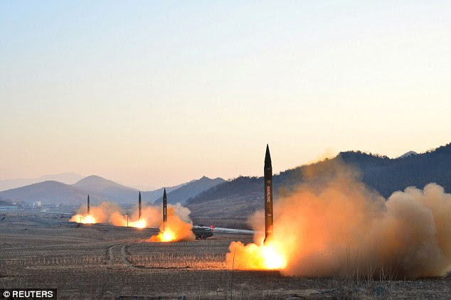 North Korea said last year it had mastered the ability to mount a warhead on a ballistic missile amid fears Pyongyang wants to build rockets capable of reaching the US. Pictures show tests being carried out on rockets in North Korea earlier this month