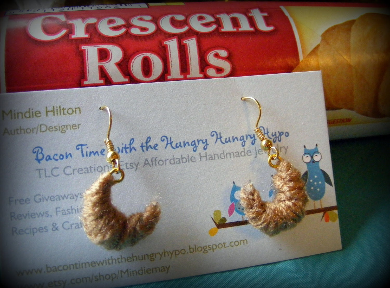 Earrings Crescent Rolls