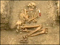 Bronze Age skeleton