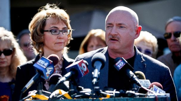 RT gabrielle giffords mark kelly RTR3ENSN jt 131012 16x9 608 Gabby Giffords Gun Control Group Hopes to Go Head to Head With NRA in 2014