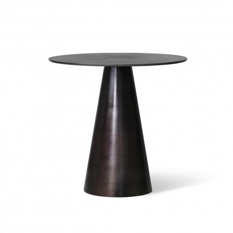 Hk Living Table Basse Ronde Pied Conique Metal Noir Kdesign