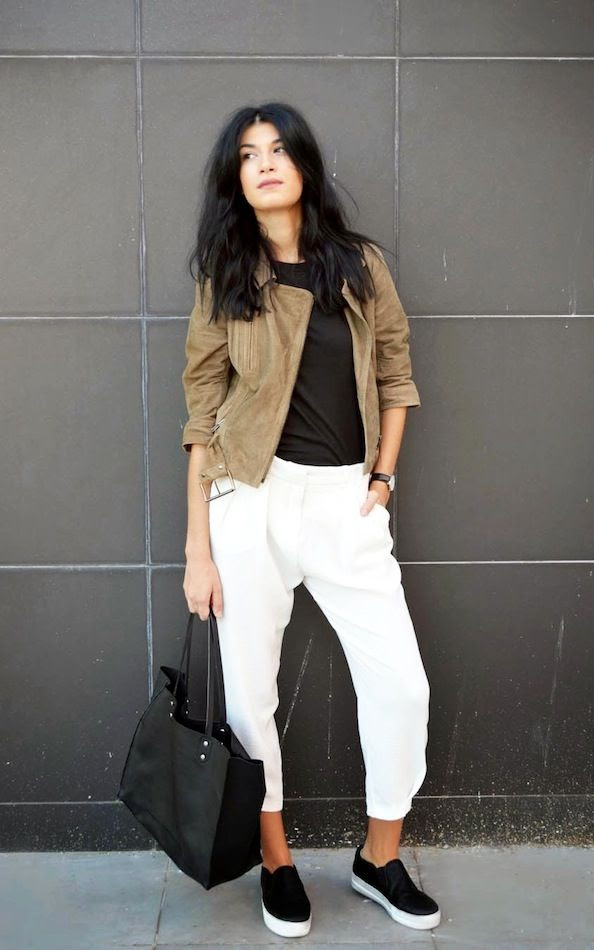 Le Fashion Blog Spring Style Suede Moto Jacket Black Tee Tote Cropped White Pants Black Slip On Sneakers Via The Blossom Girls photo Le-Fashion-Blog-Spring-Style-Suede-Moto-Jacket-Black-Tee-Tote-Cropped-White-Pants-Black-Slip-On-Sneakers-Via-The-Blossom-Girls.jpg
