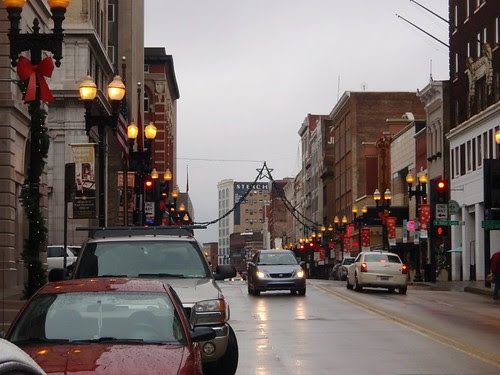 Gay Street on Christmas Eve