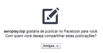 Ao clicar para ver o vídeo, usuário do Facebook acaba dando acesso a app malicioso (Foto: Divulgação/Kaspersky)