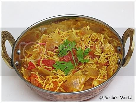 Kanda Sev Tameta Nu Shaak,Gujarati curry,gujarati dish,Tomato and Onion curry