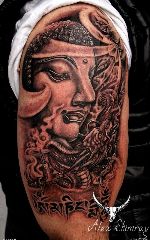 Awesome Half Sleeve Buddha Tattoo Tattoos Book 65000 Tattoos