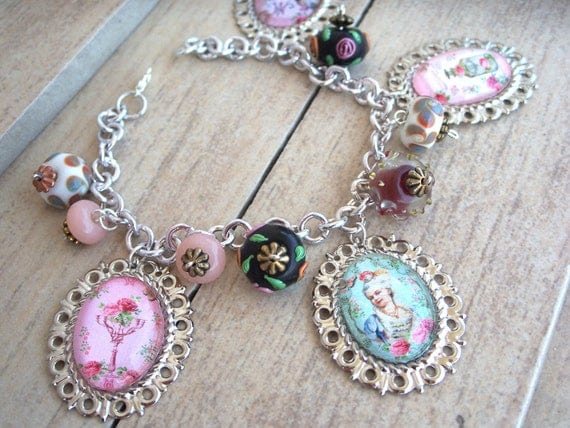 Marie Antoinette Of Our Heart-Impressive Photo Pendant Charm Bracelet-Available Only In My Shop