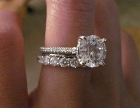 Pave engagement ring and band question (with pictures