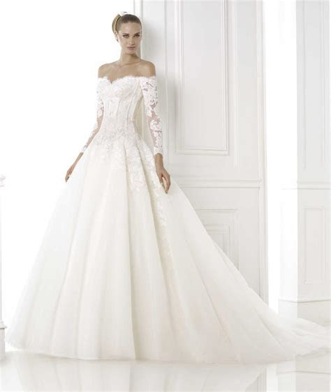 Long Sleeve Off Shoulder Wedding Dresses   Gowns Ideas