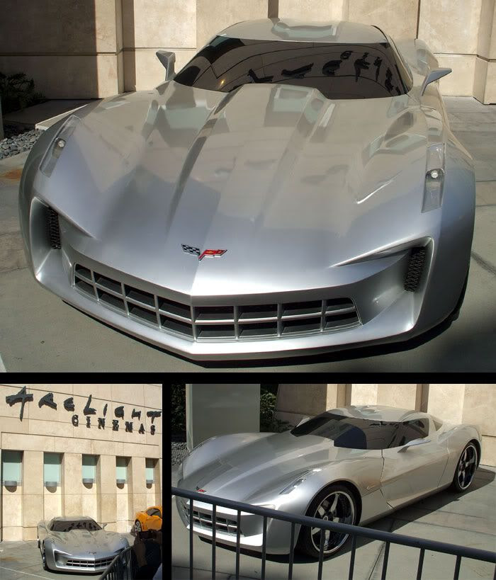 The Corvette Stingray that represents Sideswipe in TRANSFORMERS 2.