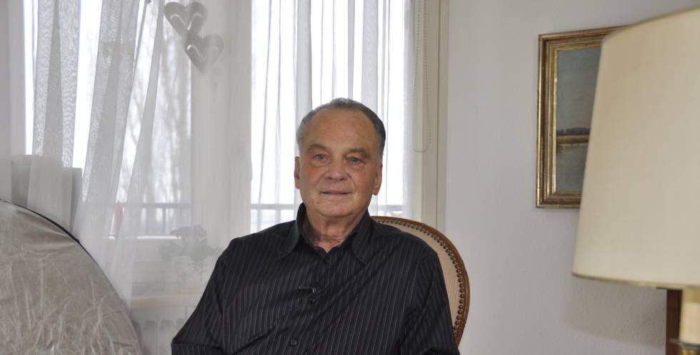 Heinz Schmitz, de 73 años, condenado en 1962 a seis meses de cárcel por mantener relaciones homosexuales.